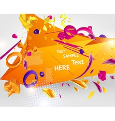 Abstract Template with Text Space vector