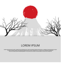 asian banner with grunge of japan vector image