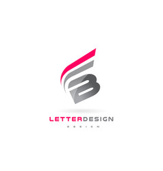 B letter logo design futuristic modern lettering vector