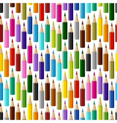 Background with colored pencils seamless pattern vector
