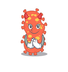 bacteroides dressed as devil cartoon character vector image