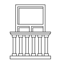 balcony in classic style icon outline style vector image