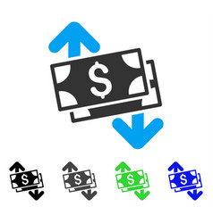 Banknotes spending flat icon vector