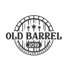 barrel vintage logo vector image