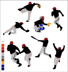 Basic baseball icon vector