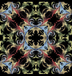 beautful baroque damask seamless pattern colorful vector image