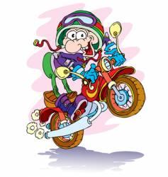 Cartoon motorcyclist vector