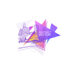chicago usa abstract graphic triangle shape vector image