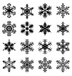 Christmas snowflakes set vector