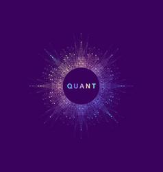 Circular quantum computer technology concept vector