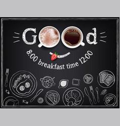 Collection breakfast food vector