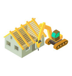 Construction site icon isometric style vector