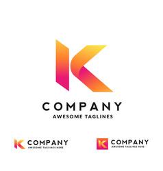 creative initial letter k logo vector image