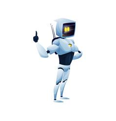 Cyborg artificial intelligence humanoid robot vector