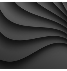 Dark Gray Wavy Background for your design vector image
