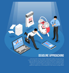 Deadline isometric concept vector