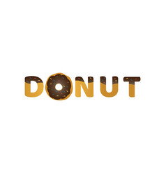 donut logo graphic design template vector image