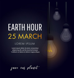 Earth hour save our planet vector