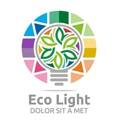 eco light bulb design colorful icon vector image