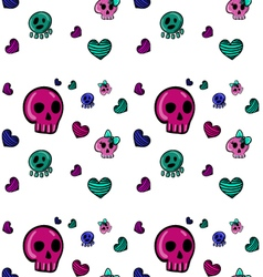 Emo style seamless pattern-2 vector