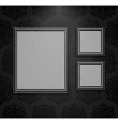 Empty frames on wall vector