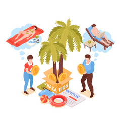 Family budget vacation composition vector