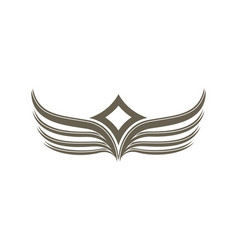 fantasy wings isolated emblem vector image