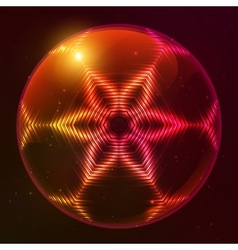 Fire red abstract sphere vector