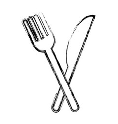 fork and knife isolated icon vector image