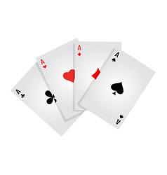 Four aces flat vector