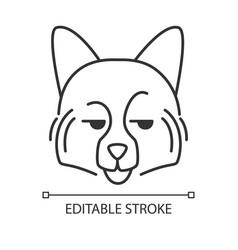 German spitz cute kawaii linear character vector
