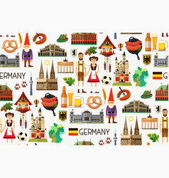 Germany travel map vector