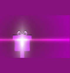 gift violet merry christmas modern background vector image