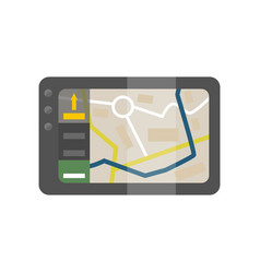 global positioning system device mobile vector image