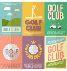 Golf Poster Set vector
