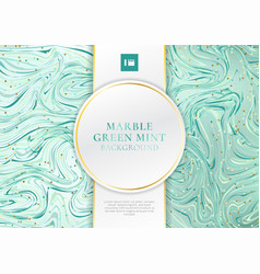 green mint marble background and texture vector image