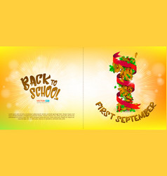 greeting card or banner to first september vector image