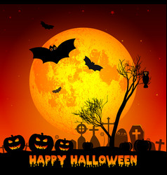 holiday poster for halloween vector image