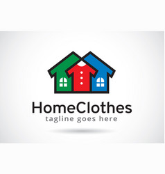 Home clothes logo template design emblem design vector