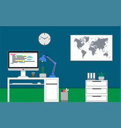 home office concept vector image
