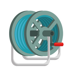 Hose rolled up vector