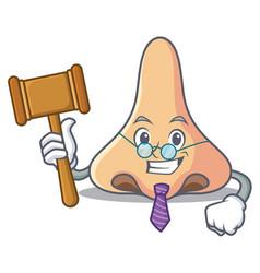 Judge nose mascot cartoon style vector