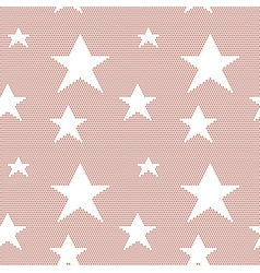 Lace seamless pattern with stars vector