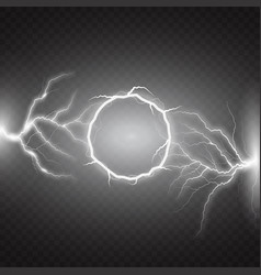 lightning round text frame on transparent vector image