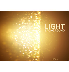 lights on yellow background bokeh effect vector image