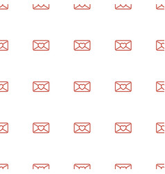 love letter icon pattern seamless white background vector image