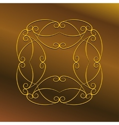 Luxury frame ornament vector image