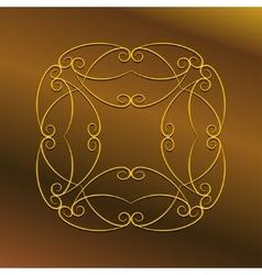 Luxury frame ornament vector