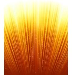 Magic stars on rays red golden light vector