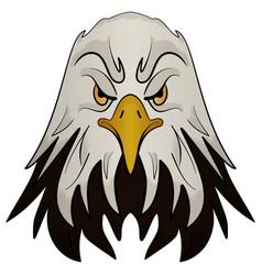 Mascot head of an eagle vector